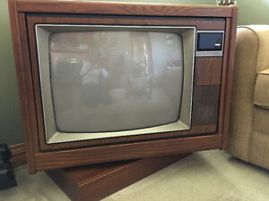 Swivel Cabinet Color TV