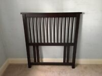 Dark Wood Headboard for Single Bed