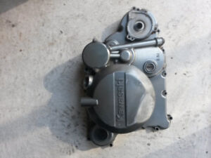 Kawasaki KLR clutch side and water pump cover
