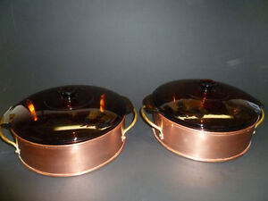 Brass and Copper Casserol Dishes