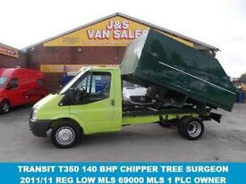 2011 11 FORD TRANSIT 350 LWB 2.4 TDCI 140 BHP T350 TWIN REAR WHEEL CHIPPER TREE