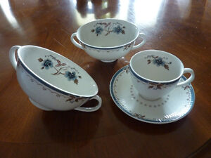 10 piece Royal Doulton Old Colony Soup and Demi Tasse