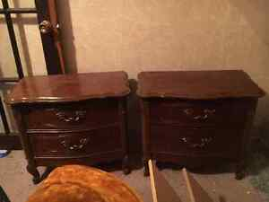 Two end tables/bedside tables