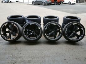 "20"" Black with a Polished face TTRS Style Alloys will fit 08 on A4, A5, A6 ETC"