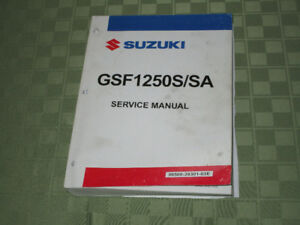 Shop Manual Suzuki 1250 Bandit (Gsf 1250)