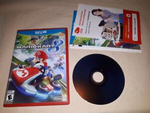 Mario kart 8 et Smash bros  Wii U 65$ pour les deux