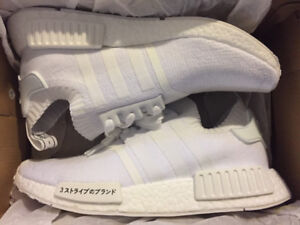 NMD JAPAN TRIPLE WHITE SIZE 8 DS