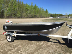 12' aluminum with 9.9 johnson trade for quad or side by side