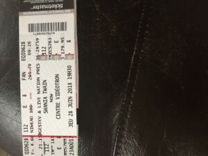2 tickets to see Shania Twain