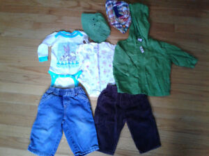 Baby Boy's Clothing sizes 6, 6-9, 6-12 months
