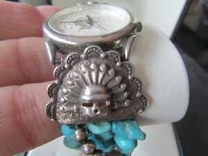 Genuine Turquoise stones and Sterling Silver Watch Peterborough Peterborough Area image 3