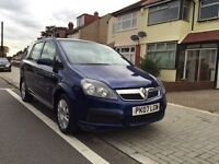 Vauxhall zafira 1.6 patrol, 16v life, one owner car