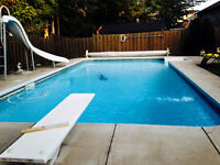 great location , lots of space , inground pool !