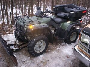 2002 Honda Foreman 4x4  With 3 way angle plow and cover
