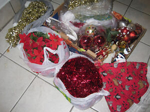 Artificial Christmas Tree and Decorations