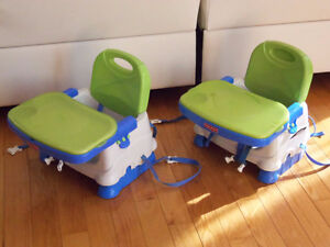 4 chaises haute siège de table compacte fisher price VOIR PHOTOS