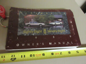1989 OLDSMOBILE88/98 OWNERS MANUAL