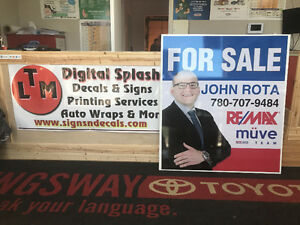 REALTORS IN NEED OF SIGNAGE???