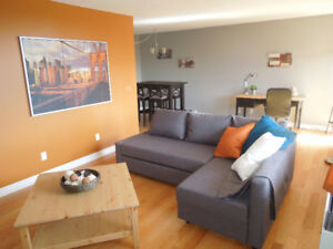 Fully Furnished One Bedroom Condo / Condo meublé 1 Chambre