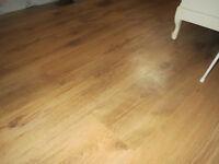 Laminate flooring with foam underlay