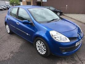 5808 Renault Clio 1.2T 16v 100 TCE Dynamique Blue 5 Door 58750mls MOT 12m