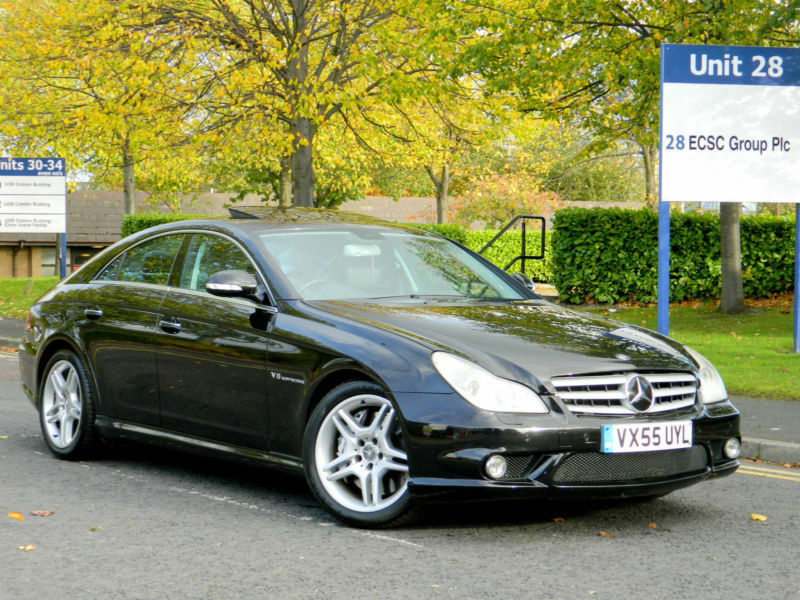 2005 55 mercedes benz cls 5 5 cls55 k kompressor 500 bhp amg with big spec in bradford west. Black Bedroom Furniture Sets. Home Design Ideas