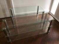 Glass coffee table & TV stand.