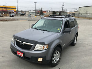 2008 Mazda Tribute,4WD, Leather,Sunroof, Lowk  warranty availab.