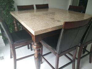 Counter Height 6 Chair Dining table Set