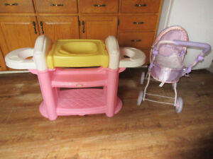little tikes doll nursery and carriage