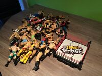 Job lot of WWE Wrestling figures + Ring