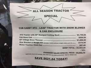 """Cub Cadet XT2 - LX46"""" Tractor with SNOW BLOWER & Cab $4,950 Windsor Region Ontario image 2"""