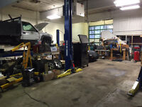Auto service shop with equipment in Salmon Arm