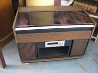 VINTAGE STEREO UNIT RECORD PLAYER RM AM RADIO 8 TRACK TAPE