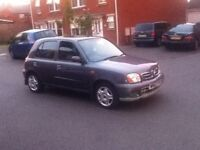 nissan micra 5dr in grey 2003 69k mileage !!!