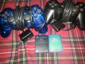 PS2 controllers and memory cards
