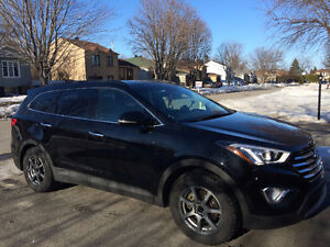 2016 Hyundai Santa Fe Luxury AWD, black, 7 passenger, 6 cyl