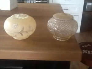 2 antique ceiling globes in excellent condition