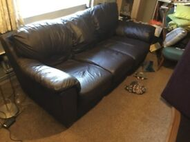 Brown leather? 3 seater sofa