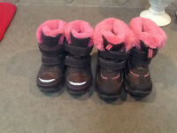 2 pairs winter boots
