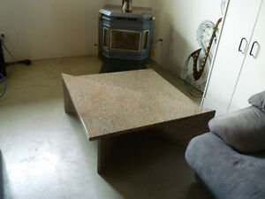 Elegant Coffee Table - Solid Granite 2 Tier / Joining Table