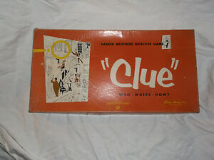 1956 Clue board game Cornwall Ontario image 1