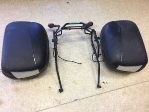 HARD BAG MOUNTS AND SADDLEBAGS FOR SUZUKI GS500F