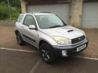 52 reg Toyota Rav4 2.0 D4D Diesel 2 Door SWB Metallic Silver over Grey