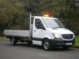 2014(14) Mercedes-Benz Sprinter 313 LWB 14ft ALLOY DROPSIDE PICK UP, FINANCE
