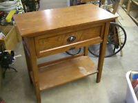 1920s SOLID OAK LARGE DRAWER UTILITY LAMP TABLE $50.00