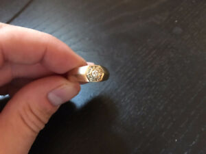 Mens 10k Gold Ring with Diamonds - $200 OBO