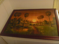 Artist Signed 22 By 30 Inch Painting