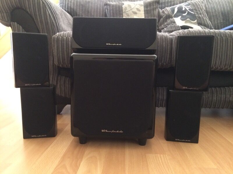 wharfedale dx1 hcp 5 1 surround sound speakers in norwich norfolk gumtree. Black Bedroom Furniture Sets. Home Design Ideas