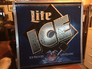 Tin Miller Lite Sign